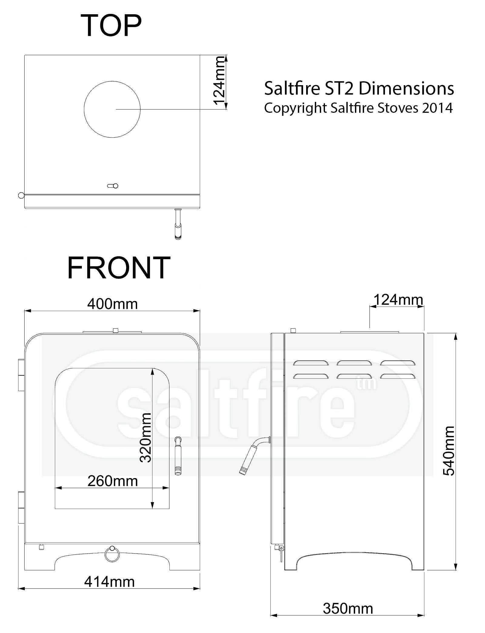 saltfire st2 multi fuel defra approved stove