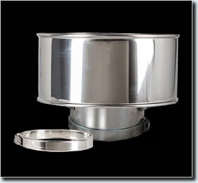 Twin Wall Flue Pipe Anti Wind Cowl