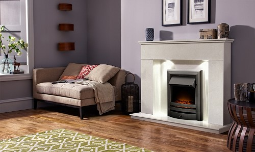 Contemporary Marble Fireplace