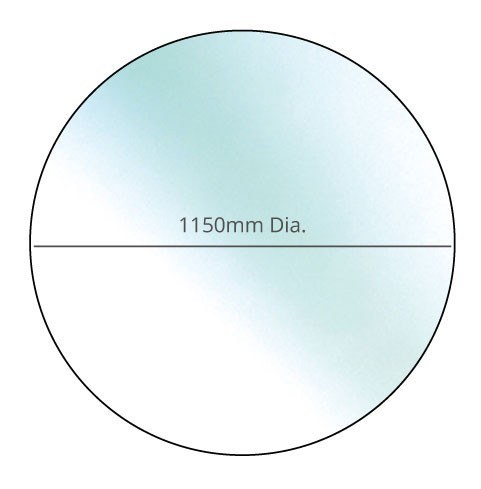 Circular Glass Hearth - 12mm x 1150mm Dia.