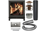 Loughrigg Wood Burning Stove - Complete Fireplace Chamber and Liner Pack